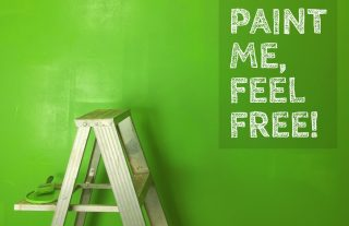 painting a tall wall